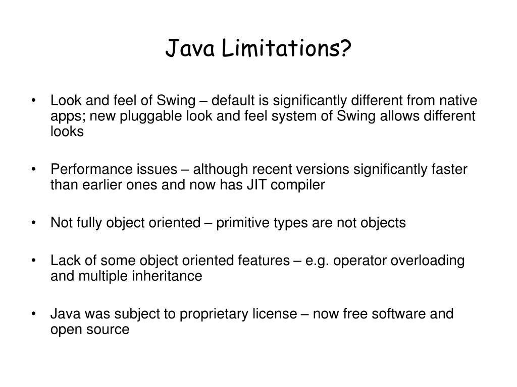 Java Limitations?