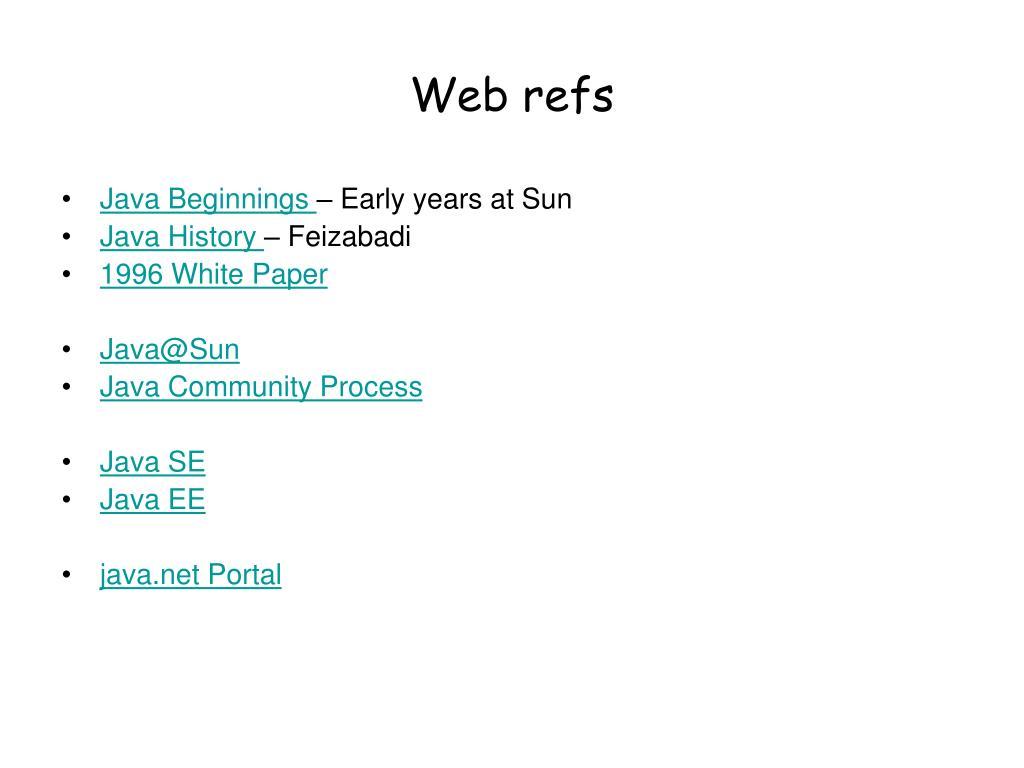 Web refs