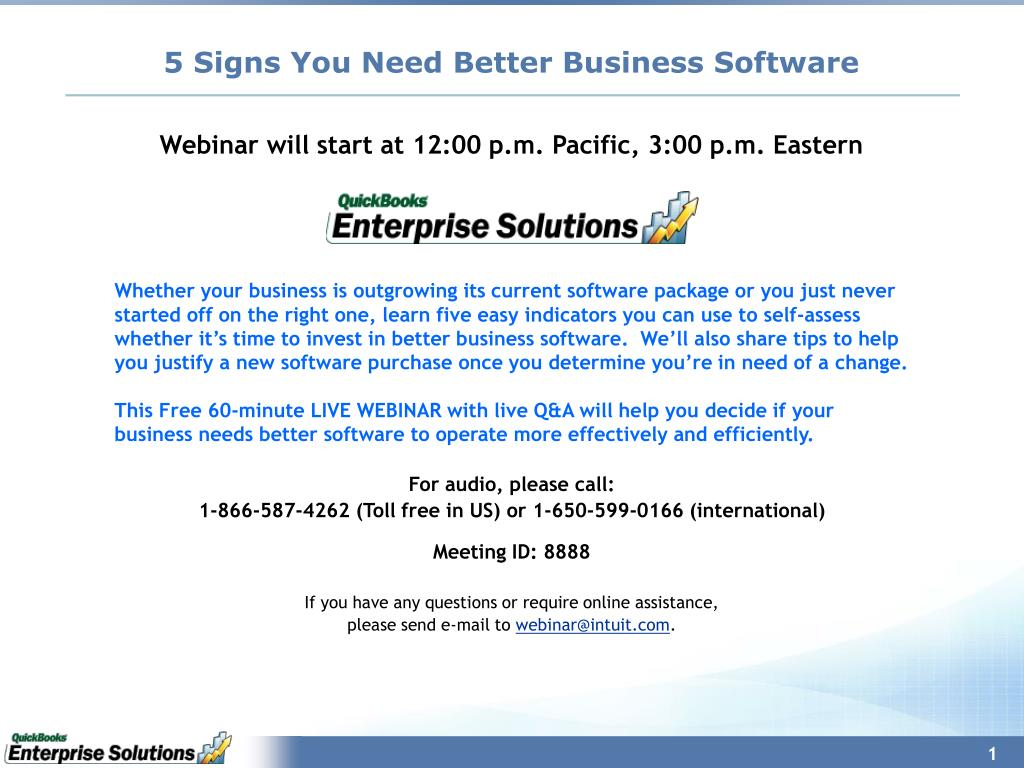 5 signs you need better business software l.