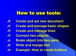 how to use tools