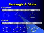rectangle circle