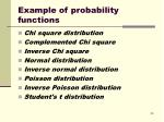 example of probability functions