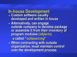 in house development14