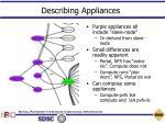 describing appliances