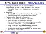 npaci rocks toolkit rocks npaci edu