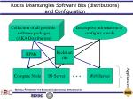 rocks disentangles software bits distributions and configuration