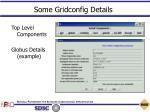 some gridconfig details