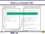 what is a kickstart file