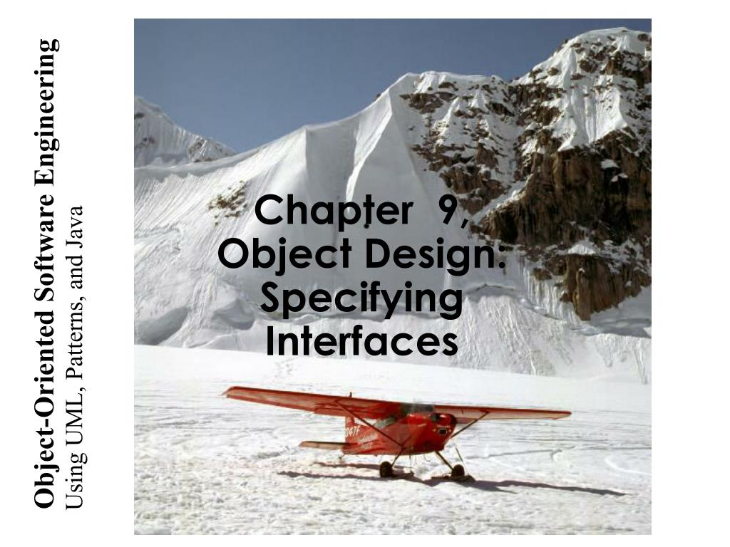 chapter 9 object design specifying interfaces l.