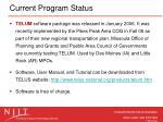 current program status