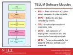 telum software modules