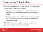 transportation policy analysis