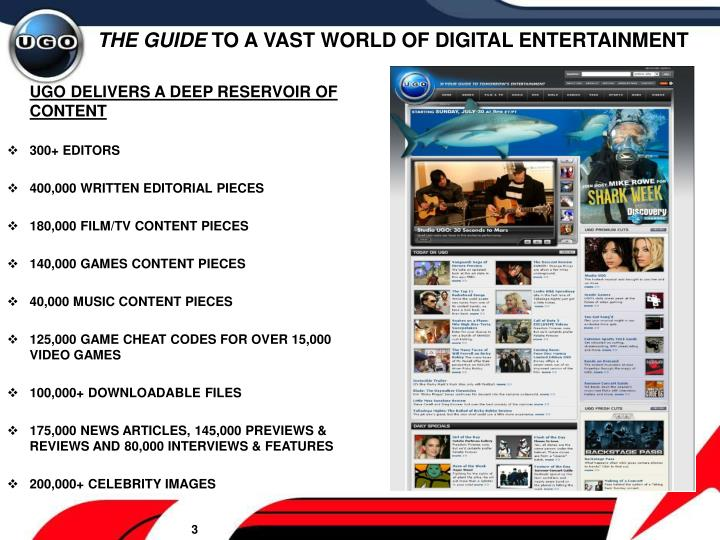 The guide to a vast world of digital entertainment