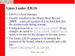 linux loader lilo