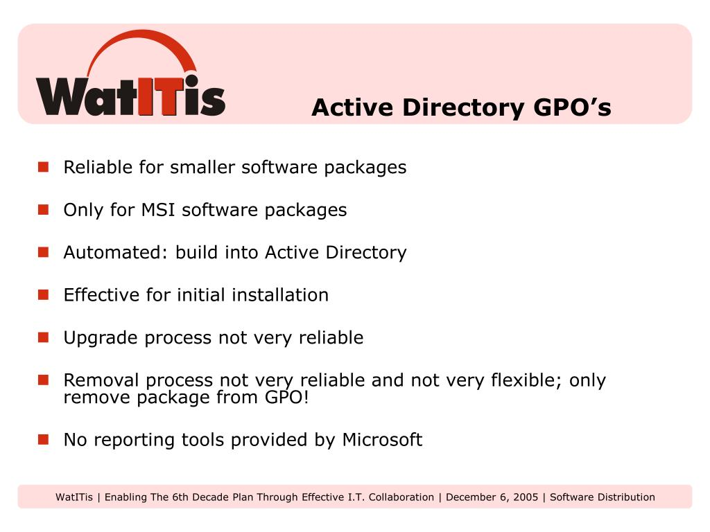 Active Directory GPO's