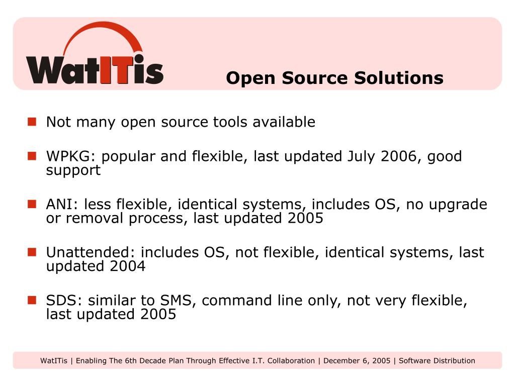 Open Source Solutions
