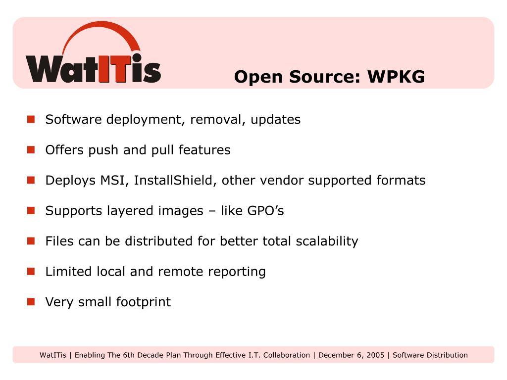 Open Source: WPKG