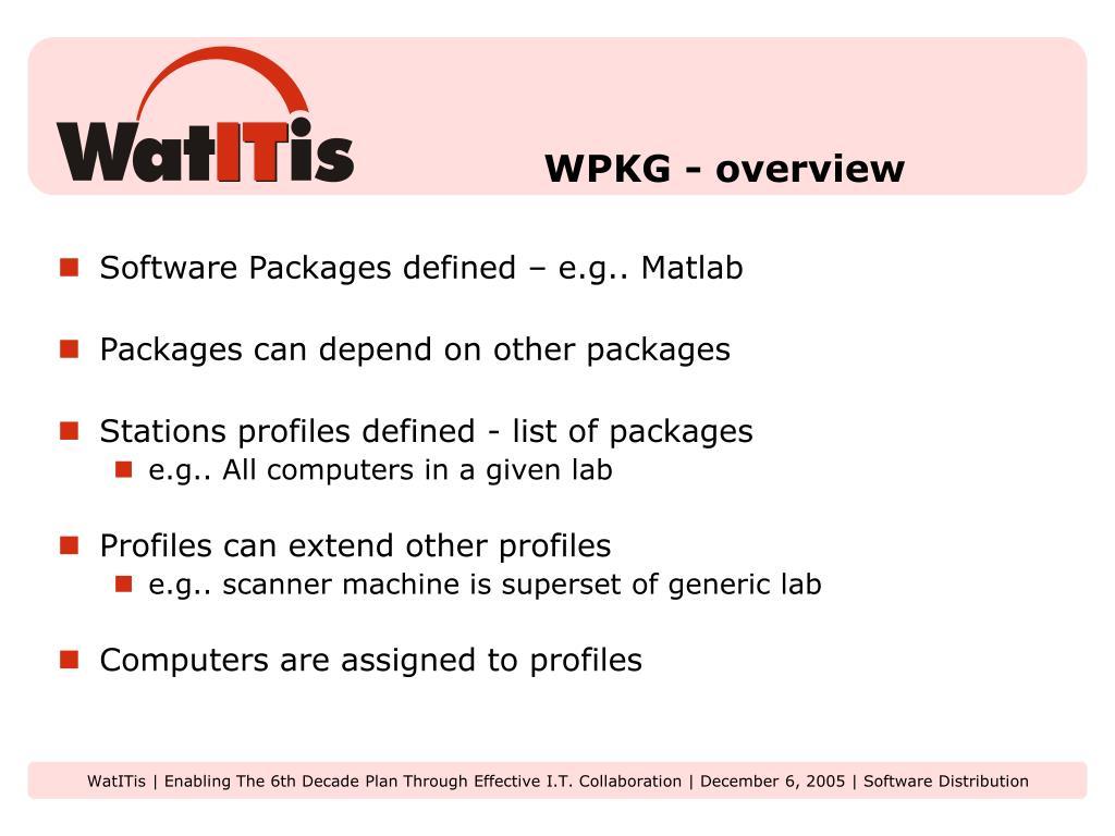 WPKG - overview