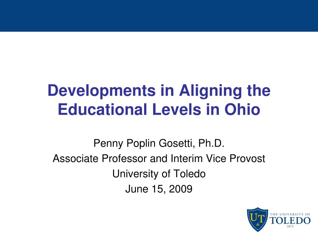 developments in aligning the educational levels in ohio l.