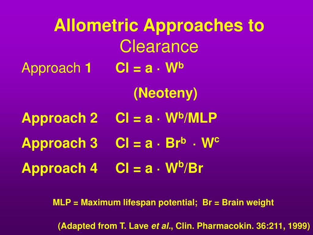 Allometric Approaches to