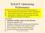 pysalt optimizing performance
