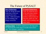 the future of pysalt