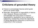 criticisms of grounded theory