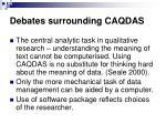 debates surrounding caqdas48