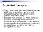 grounded theory is