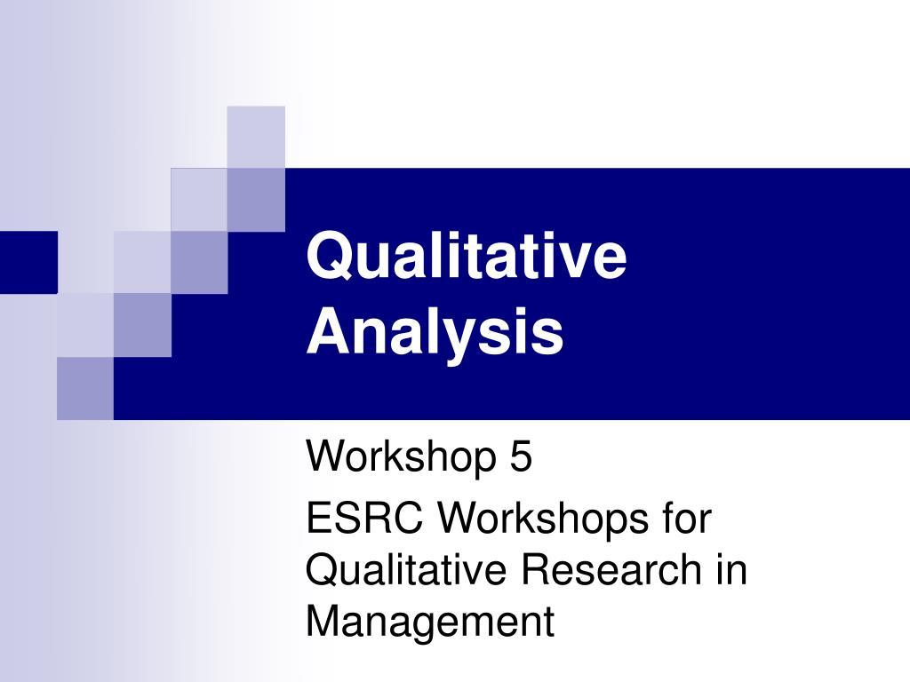 qualitative analysis l.