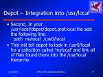 depot integration into usr local14