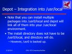 depot integration into usr local15