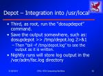 depot integration into usr local16
