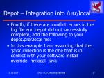 depot integration into usr local17