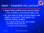 depot integration into usr local18