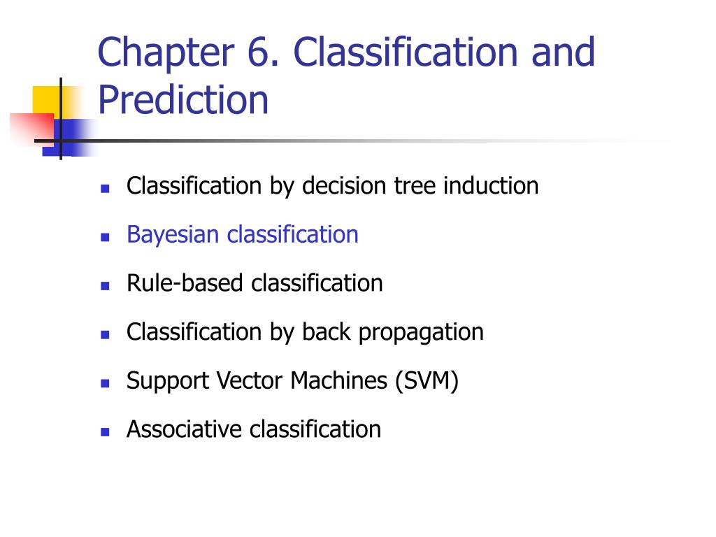 chapter 6 classification and prediction l.