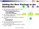 adding the new package to the distribution