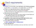 cleo3 requirements