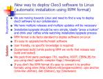 new way to deploy cleo3 software to linux automatic installation using rpm format