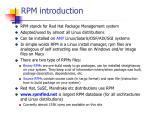 rpm introduction