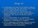 artigo 42