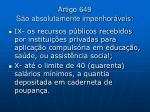 artigo 649 s o absolutamente impenhor veis21