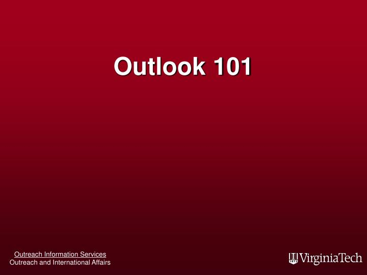 Outlook 101