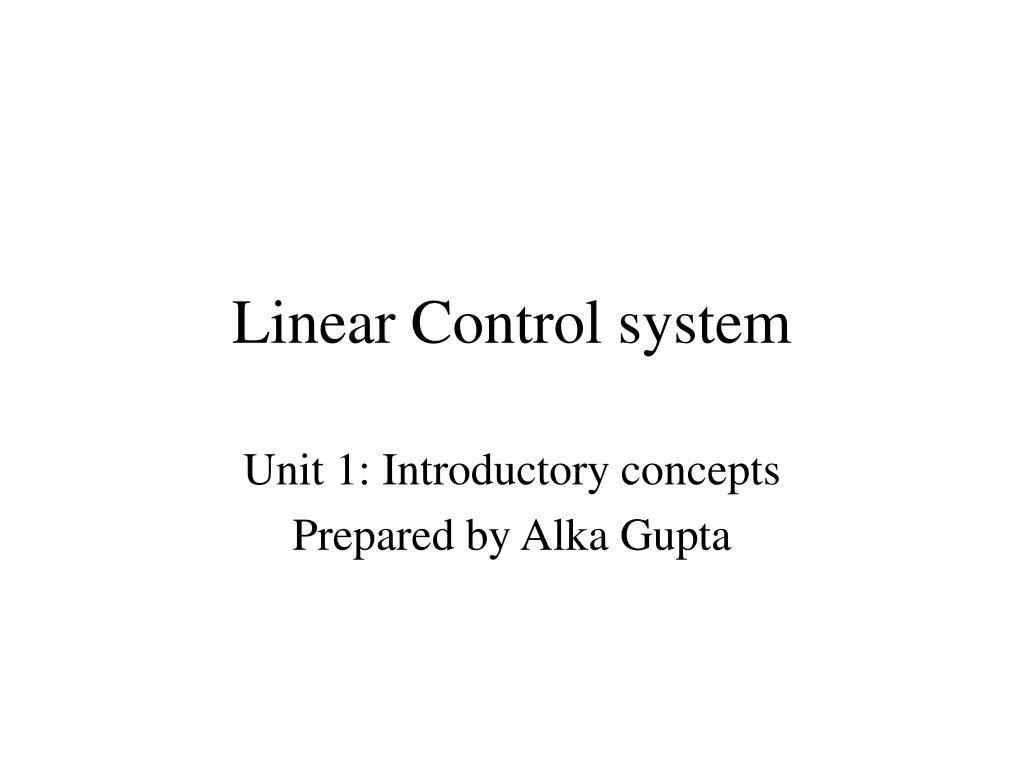 linear control system l.