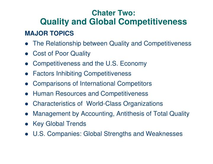 chater two quality and global competitiveness n.