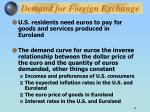demand for foreign exchange
