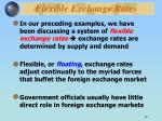 flexible exchange rates