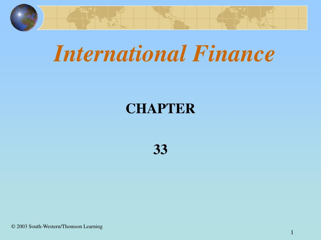 international finance l.