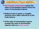 merchandise trade balance