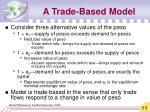 a trade based model11